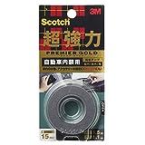 3M スコッチ 超強力両面テープ プレミアゴールド 自動車内装用 15mm×1.5m KCR-15