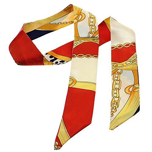 ファッションレディーガール用 Twillyシルクリボンバックルスカーフ バッグのハンドルの装飾 - パターンF 1Pc