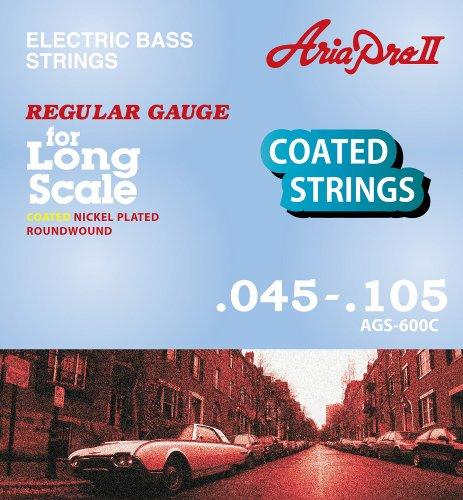 【1セット】ARIA/アリア AGS-600C [45-105] ベース用 コーティング弦