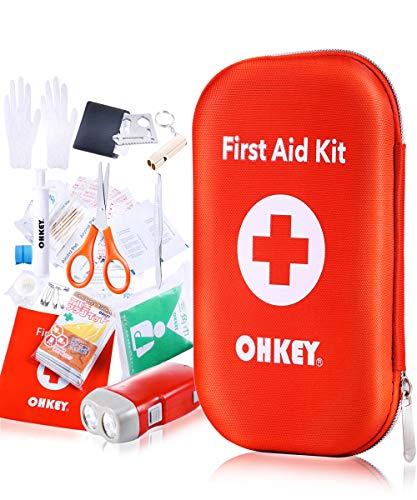 OHKEY ファーストエイド キット 救急 セット ポイズンリムーバー 登山 アウトドア 防災 救急箱