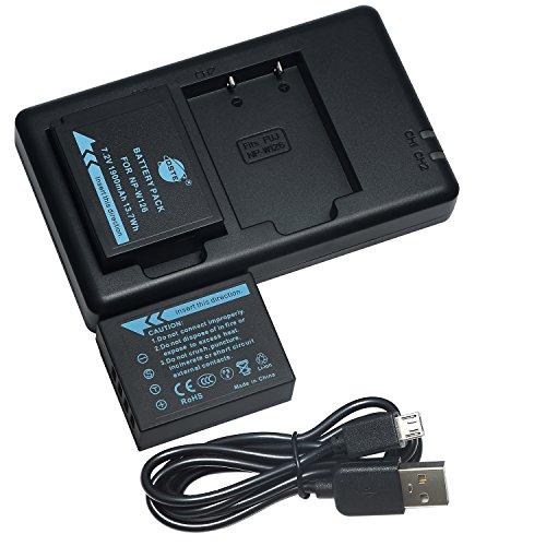 互換バッテリー DSTE NP-W126 NP-W126S バッテリーパック 2個 + 充電器 セットUSB 急速充電 アルファ FUJIFILM 富士フィルム FinePix HS50EXR X-A1 X-E2 X-M1 X-Pro1 X-T1 X-Pro2 X-H1 X-T100 に対応