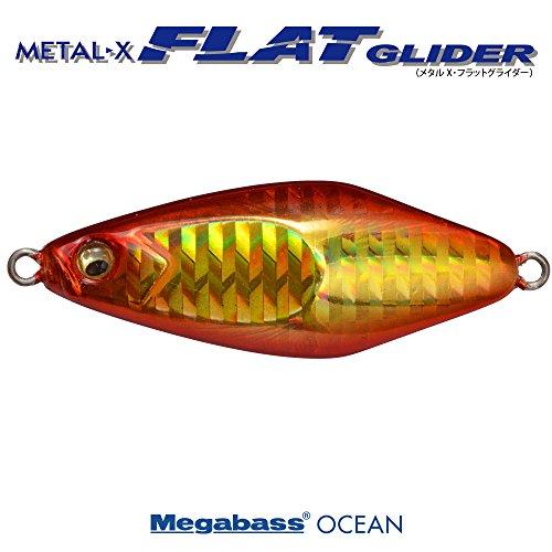 メガバス(Megabass) METAL-X FLAT GLIDER 30g G アカキン 34224 メタルジグ ルアー