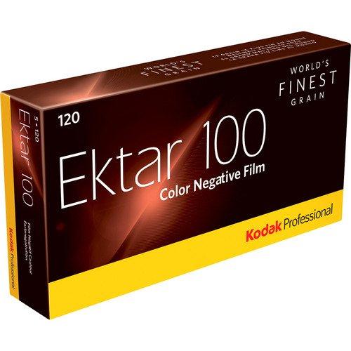 Kodak カラーネガティブフィルム プロフェッショナル用  エクター100 120 5本パック 8314098