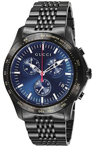 [グッチ]GUCCI 腕時計 G-TIMELESS ブルー文字盤 ステンレス(BKPVD) クロノグラフ YA126259 メンズ 【並行輸入品】