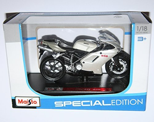 Maisto Ducati 848 Motorcycle Die Cast Model Scale 1:18 by Maisto 並行輸入品