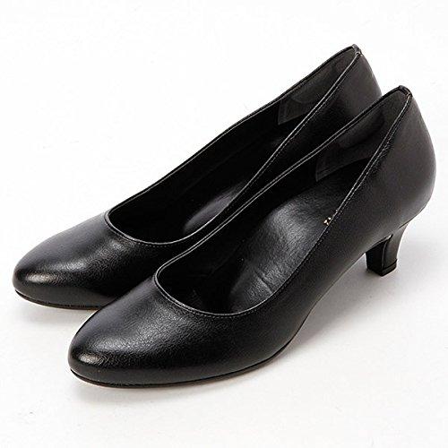 [ヴェリココ] ラクチンきれいパンプス 足裏にフィットして負担を軽くするクッション(5cmヒール)【ブラック/25.0】