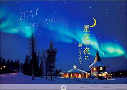 星空の夜に 2019年 カレンダー 壁掛け SC-1 (使用サイズ 594x420mm) 風景
