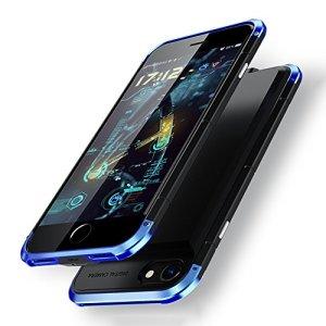 Yoi バッテリー内蔵ケース iPhone7/iPhone8共用 2600mAh ケース型バッテリー バッテリーケース Battery Case 4.7インチ用 スリーパーツ式 ケーブル不要 大容量 急速充電 全面保護 軽量 薄型 旅行、観光、出張 (iPhone 7/iPhone 8, 青)