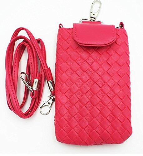 Shop XJ ガジェットケース 携帯 スマホ ポーチ 入れ物 鞄 外付け ホルスター ポシェット マグネット タイプ ピンク