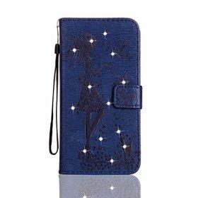 OMATENTI Samsung Galaxy S8 ケース 手帳型 良質PUレザーケース 衝撃吸収 液晶保護 カード収納 横置きスタンド機能付き マグネット Samsung Galaxy S8 用 Case Cover (6-ダークブルー)