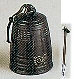 銅鑼・喚鐘 唐銅累座喚鐘(撞木付き) 口径13cm 高さ22cm