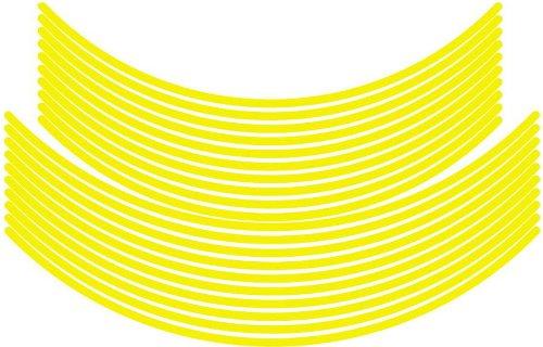 エムディーエフ(MDF) リムストライプ ソリッドタイプ イエロー 【文字なし 無地】 6mm幅 17&19インチ RIM-6M-YE-17&19N
