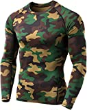 (テスラ)TESLA オールシーズンラウンドネック スポーツシャツ [UVカット・吸汗速乾] コンプレッションウェア パワーストレッチ アンダーウェア MUD01-MOV_M