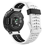 Garmin ForeAthlete 235J バンド - ATiC Garmin ForeAthlete 235J専用ソフト 高級 シリコーン製腕時計ストラップ/バンド 交換ベルト White & Black(Garmin ForeAthlete 220/230/235/620/630/735に対応)