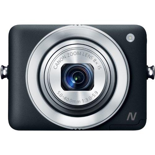 【並行輸入品】Canon PowerShot N 12.1 MP CMOS Digital Camera with 8x Optical Zoom and 28mm Wide-Angle Lens (Black)