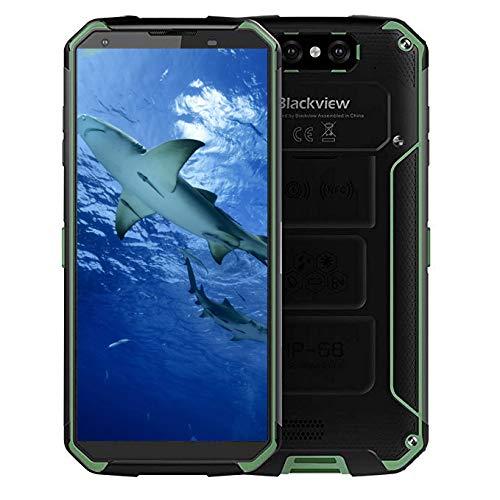 Blackview BV 9500 4G携帯電話5.7インチアンドロイド8.1 MTK6763T 4GB + 64GBメモリIP68防水スマートフォン (グリーン)