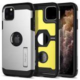 【Spigen】 スマホケース iPhone 11 Pro ケース 5.8インチ 対応 超耐衝撃 新モデル スタンド機能 米軍MIL規格取得 カメラ保護 傷防止 衝撃 吸収 Qi充電 ワイヤレス充電 タフ・アーマー XP 077CS27448 (サテン・シルバー)
