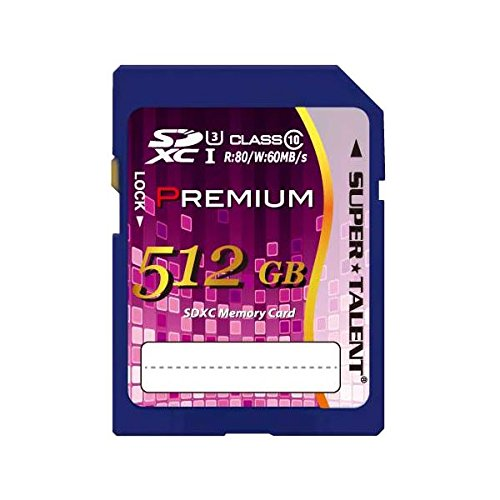 スーパータレント SUPER TALENT UHS-I SDXCメモリーカード 512GB Class10 ST12SU1P