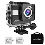 Virtoba 4K WIFIアクションカメラ 1080P 2.31インチフルHDタッチスクリーン 170°広角レンズ SONYセンサー 2000万画素 高画質実現 バッテリー2つ 30M防水 豊富なアクセサリー ケース付き 日本語説明書付き