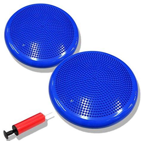 DABADA(ダバダ) バランスディスク バランスクッション 体幹クッション ポンプ付き (ブルー2個)