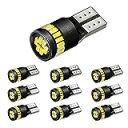 AUXITO T10 LED ホワイト 爆光 10個 ポジションランプ led キャンセラー内蔵 2W 24個3014LED素子 30000時間寿命 12V LED 白 ルームラン..