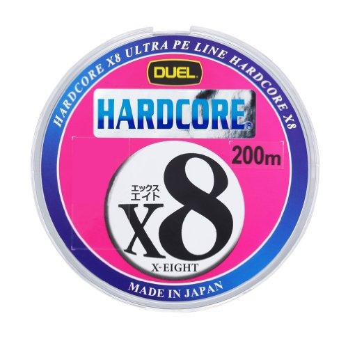 デュエル(DUEL) ライン(PE): HARDCORE X8 200m 0.6号 : 1m5mマーキング&10mカラーチェンジ