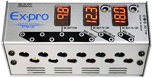 Ex-pro イーエクス・プロ パワーサプライ PS-2 パワーサプライ12V・15V・18V・24V対応特集。高電圧エフェクターの電源はコレ!