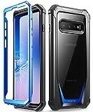 Galaxy S10 ケース、ギャラクシーs10 専用 2019最新製品、耐衝撃、Samsung携帯カバー、防塵、Poetic Samsung 2019 Guardian Case、ブルー