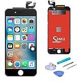 SANKA iPhone6s フロントガラス デジタイザ (タッチパネル) 及び 液晶LCD 一体型セット 交換用 部品 修理工具付き ブラック