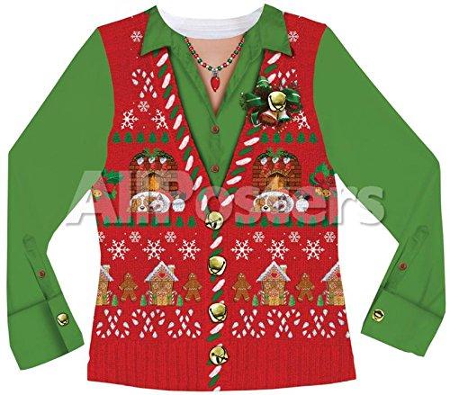 [XLサイズ]アグリー ダサい クリスマス セーター ベスト ニット チョッキ 女性用 クリスマス ギフト プレゼント コスプレ コスチューム 衣装 [並行輸入品]