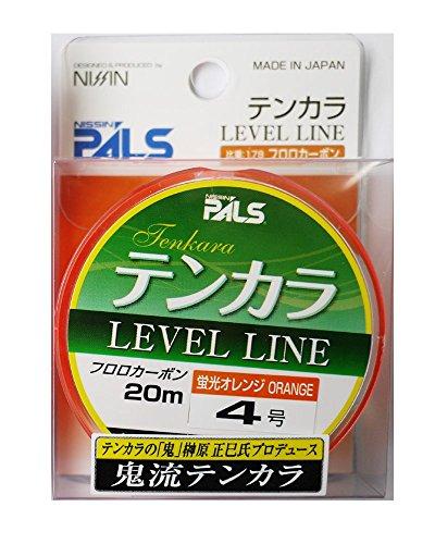 宇崎日新 テンカラライン 鬼流テンカラライン 20m 4号 オレンジ