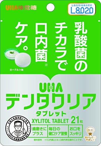 UHA味覚糖 デンタクリア タブレット 口内菌ケア ヨーグルト味 スタンドパウチ 21粒