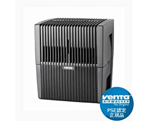 ベンタ 加湿器 ベンタ エアウォッシャー [ LW25S/ブラック ]《24畳》 気化式加湿器 空気清浄機 Venta Airwasher 2016モデル 正規品