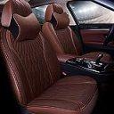 汎用 クッション カー シートカバー - プレミアムラグジュアリー自動車用ユニバーサルシートカバーセット、5席、7個, 5色 (Color : B)