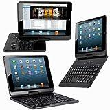 【JUVENA】iPad mini用BluetoothワイヤレスキーボードPUレザーケース付 360度回転可能