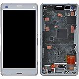 BIZ4JP™ Sony Xperia Z3 Compact D5803/D5833/m55w/So-02G/Z3 Mini 修理交換用フロントパネル フロントガラスデジタイザ タッチパネル フレーム付き液晶パネルセット...