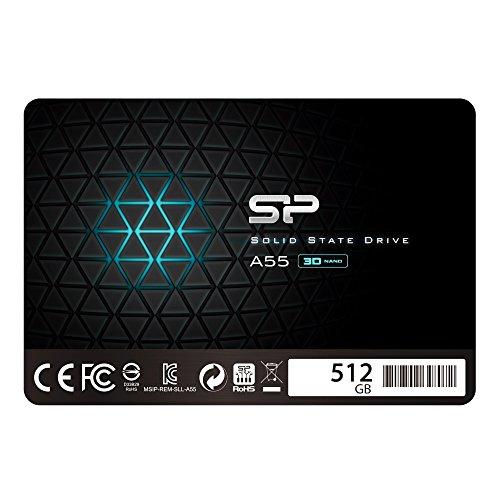 シリコンパワー SSD 512GB 3D NAND採用 SATA3 6Gb/s 2.5インチ 7mm PS4動作確認済 3年保証 A55シリーズ SP5...