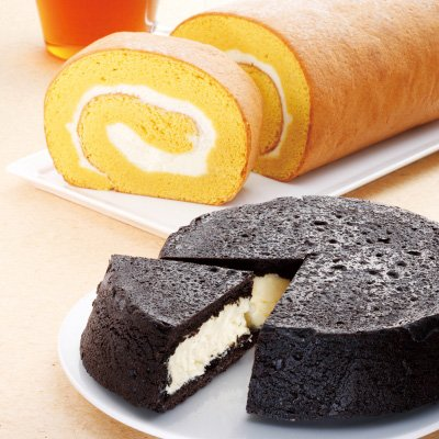 ラファミーユの黒いチーズケーキをプレゼント