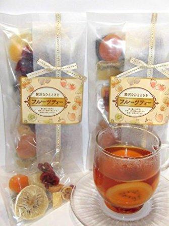 小さなリボン付!紅茶と6種類の ドライフルーツ を ブレンド!フルーツティー 2袋セット ティーバッグ