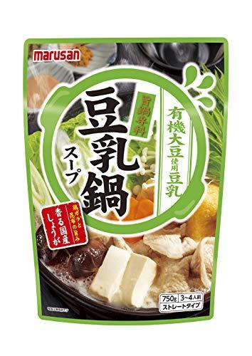 マルサン 豆乳鍋スープ 750g×2個