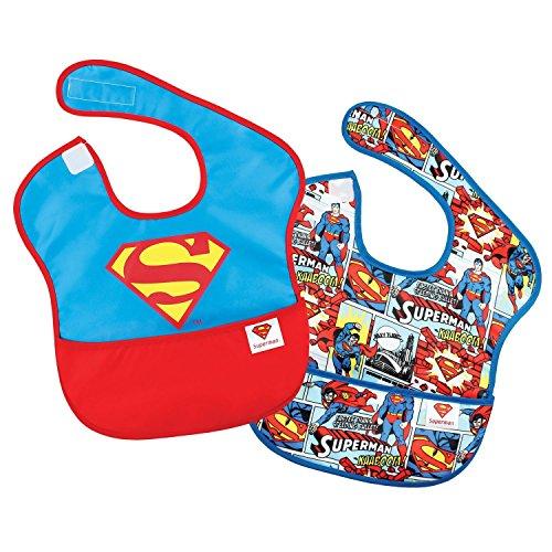 Bumkins(バンキンス)  DCコミックス スーパービブ(食事用防水ビブ) 6~24ヶ月 2枚組 (スーパーマンアイコン) [並行輸入品]