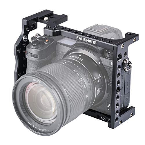 FANSHANG カメラビデオケージ SZ-07アルミ合金製 DSLRカメラケージ HDビデオや映画作成 Nikon Z6/Z7カメラ用 コールドシューマウント付き マジックアーム/マイク/モニター/ビデオライトなど取り付け可