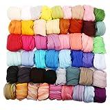フェルト羊毛セット 50色 KING DO WAY ウールキャンディ 5g ウールフェルト ふわふわ 混合色あり 手芸セット DIY素材