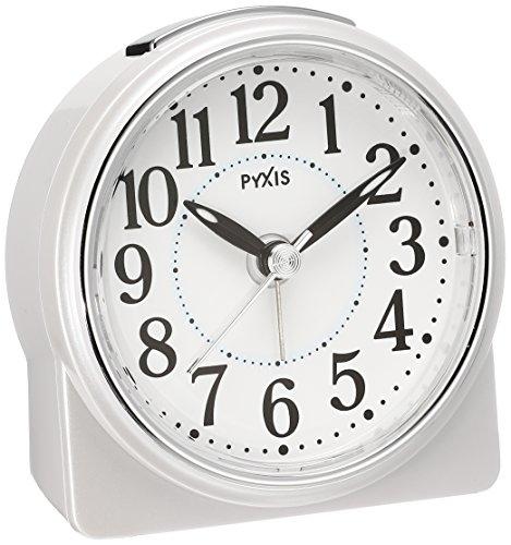 セイコー クロック 目覚まし時計 アナログ PYXIS ピクシス 白 パール NR439W SEIKO