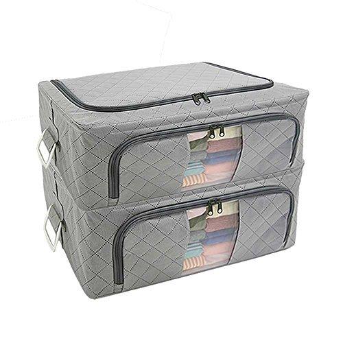 アストロ 衣類収納ケース WIRED 2個組 活性炭入り 消臭 衣類 保管 ワイヤー入り 620-19