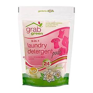 Grab Green 3-in-1 ランドリー デタージェント 24ポッド(洗濯洗剤)