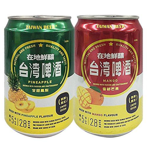 台湾お土産 台湾パイナップル&マンゴービール 6缶セット