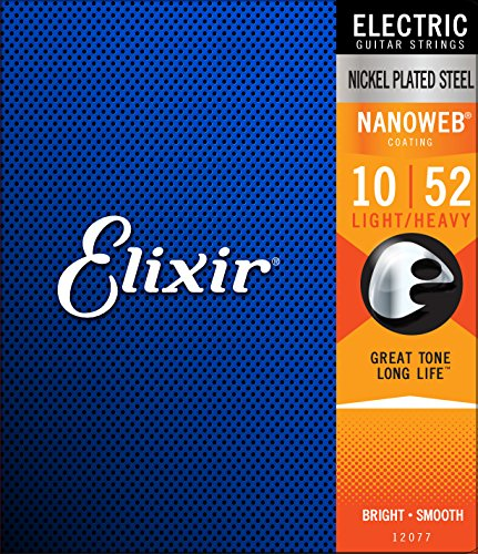 Elixir エリクサー エレキギター弦 NANOWEB Light Heavy .010-.052 #12077 【国内正規品】 高橋しょう子(たかしょー)さんのギターの機材! AV・セクシー女優だけど超本格派!