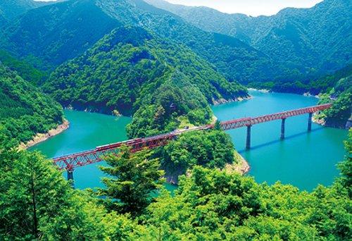 四季の詩 300ピース 空駆ける大井川鉄道 (静岡) (26cm×38cm、対応パネルNo.3)