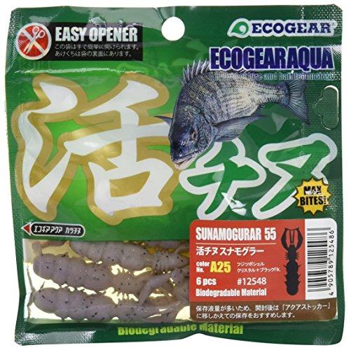 エコギア(Ecogear) ルアー エコギアアクア 活チヌ スナモグラー55 A25フジツボシェル クリスタル+ブラックFlk.